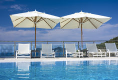 Swimming pool. In luxury hotel Royalty Free Stock Photo