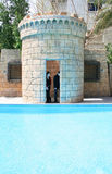 Swimming pool. At the castle,teens Royalty Free Stock Photo