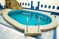 Swimming pool. Big pool in the big room royalty free stock photos