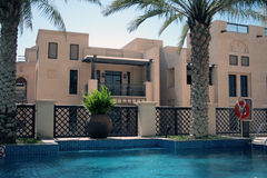 Swimming pool. A swimming pool in a hotel in Dubai Stock Photography