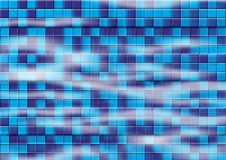 Swimming Pool. Blue Swimming Pool Tiles Under Water vector illustration