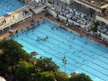 Swimming pool. In Cairo, Egypt stock photography