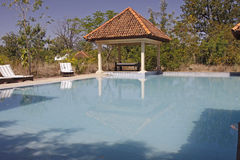 Swimming Pool. The swimming pool at Tuli Tiger Corridor, Pench, India Stock Images