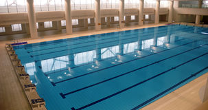 Swimming pool. Large indoor swimming pool in beijing,china stock photo
