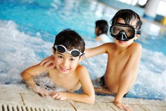 On swimming pool Royalty Free Stock Photos