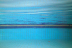 Swimming-pool. Underwater picture of a swimming pool; sport concept Stock Photos