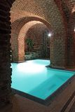 Swimming-pool. An underground swimming-pool in a castle stock images