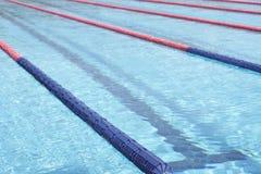 Swimming pool. Lanes detail of a swimming pool Stock Photos