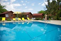 Swimming pool. Girl in the swimming pool Stock Photo