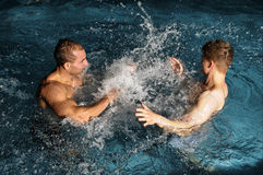 In swimming pool Royalty Free Stock Images