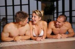 In swimming pool Stock Photo