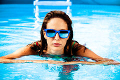 In swimming pool Stock Photography