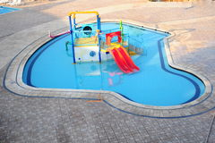 Swimming pool. A swimming pool for kids Royalty Free Stock Image