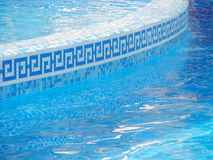 Swimming pool. Curved side of a swimming pool stock photography