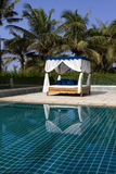 Swimming pool. On seaside hotel Royalty Free Stock Photography