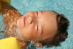 In swimming pool Royalty Free Stock Photos