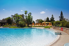 Swimming pool. Hotel pool in Addis Ababa Ethiopia stock image