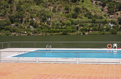 Swimming pool. In the river Douro margin Royalty Free Stock Images