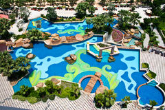 Swimming pool. In park, Thailand Royalty Free Stock Images