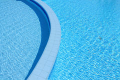 Swimming pool. Outdoor shallow water swimming pool Royalty Free Stock Photography