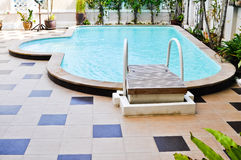 Swimming pool. In the resort ,Hua hin,Thailand stock photography