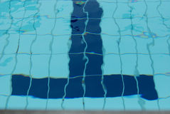 Swimming pool. Lanes divider inside the water royalty free stock images