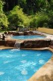 Swimming pool. A beautiful swimming pool landscape Stock Photos