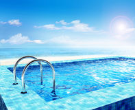 Swimming pool. Luxury swimming pool at the hotel Royalty Free Stock Images