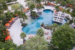 Swimming pool. Tropical resort at swimming pool Stock Images