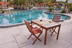 Swimming pool. Tropical resort at swimming pool Royalty Free Stock Photos