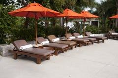 Swimming pool. Tropical resort at swimming pool Royalty Free Stock Image