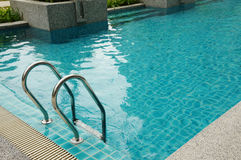 Swimming pool. Luxury home swimming pool near the sea Stock Images