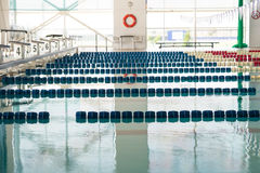 Swimming Pool. Indoor Photo Of An Olympic Size Swimming Pool Stock Photography