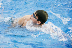 Swimming in the pool Royalty Free Stock Photos