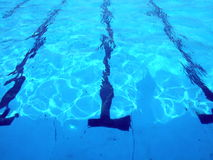 Swimming Pool. A picture a competition pool, with lane markings on its floor royalty free stock photo