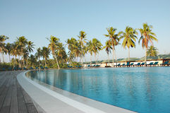 Swimming pool. Dhoni bar swimming pool of Herethere Island Resort from S Addu Stock Image