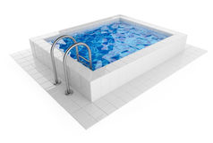Swimming pool. 3D Illustration on white Royalty Free Stock Photo