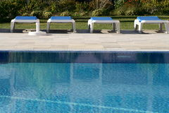 Swimming Pool. At hotel in portugal Stock Photos