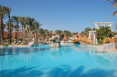 Swimming pool. Luxurious swimming pool in Sharm el Shekh Hotel Stock Photos