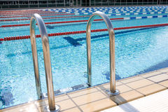 Swimming Pool. With blue water Royalty Free Stock Photo