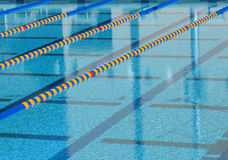 Swimming pool. An athletic swimming pool Stock Image