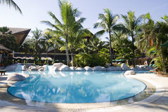 Swimming Pool. A view of swimming pool at beach resort Stock Images