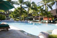 Swimming Pool. View of swimming pool at beach resort Royalty Free Stock Photo