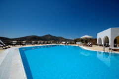 Swimming Pool. Crystal clear hotel swimming pool Stock Photography