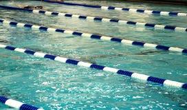 Swimming Pool. Swimming Lanes in Lap Pool Stock Image