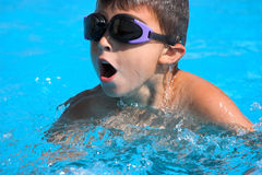 Swimming in pool Royalty Free Stock Photography