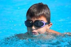 Swimming in pool Stock Photo