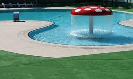 Swimming pool. Beautiful blue fresh swimming pool Royalty Free Stock Image