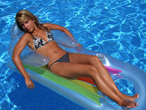 In the swimming-pool Stock Images