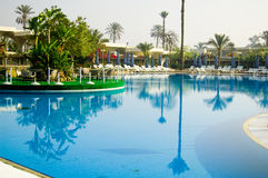 Swimming Pool. Hotel Swimming Pool in Cari, Egypt Royalty Free Stock Images